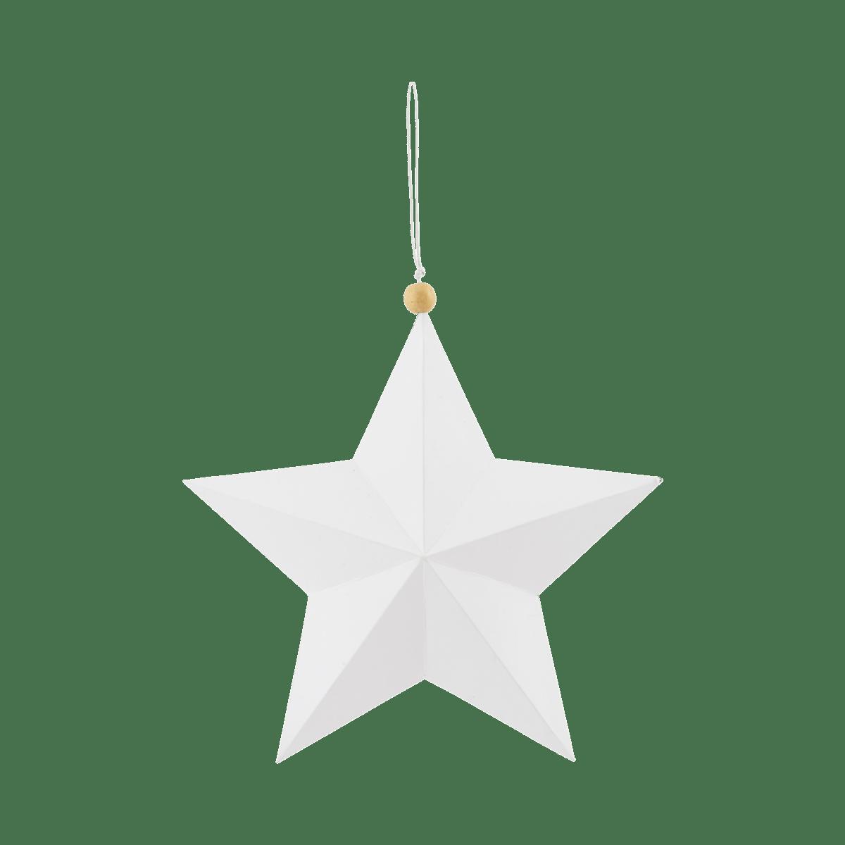 Bílá ozdobná hvězda Star 20 cm
