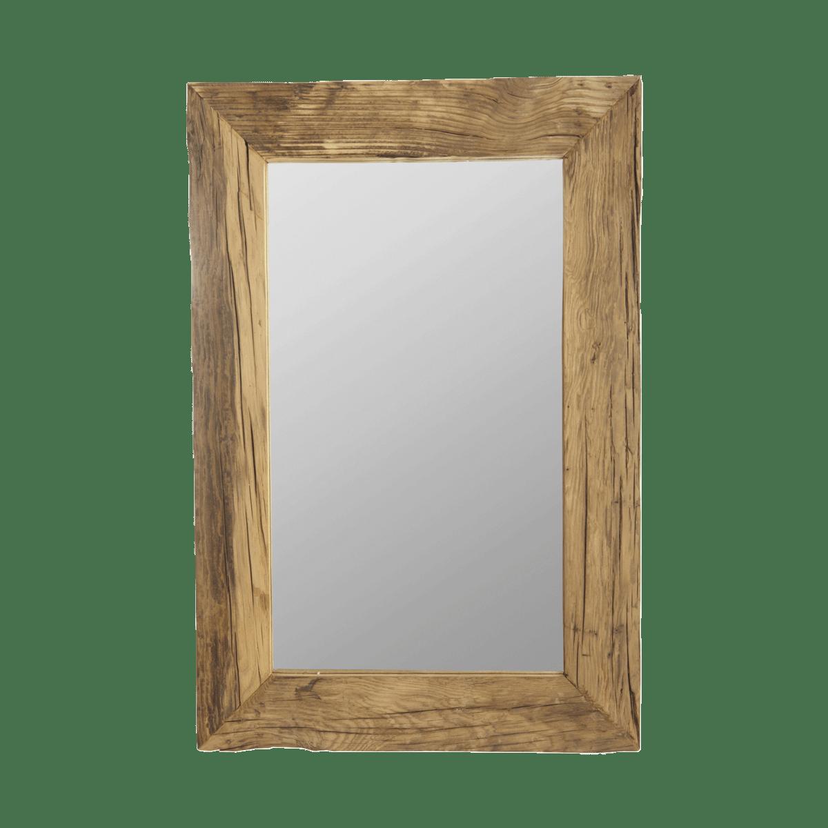 Zrcadlo s dřevěným rámem Pure Nature