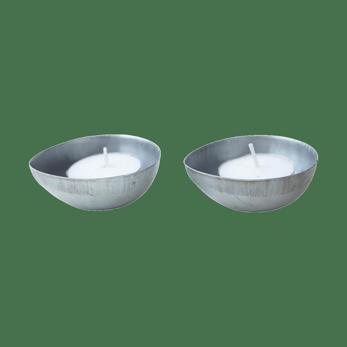 Zinkované čajové svíčky Egg