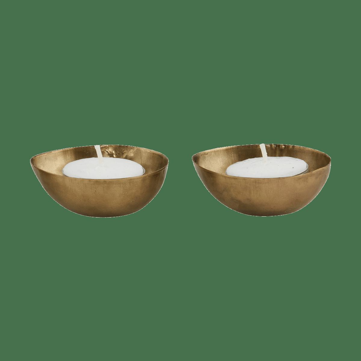 Mosazné čajové svíčky Egg
