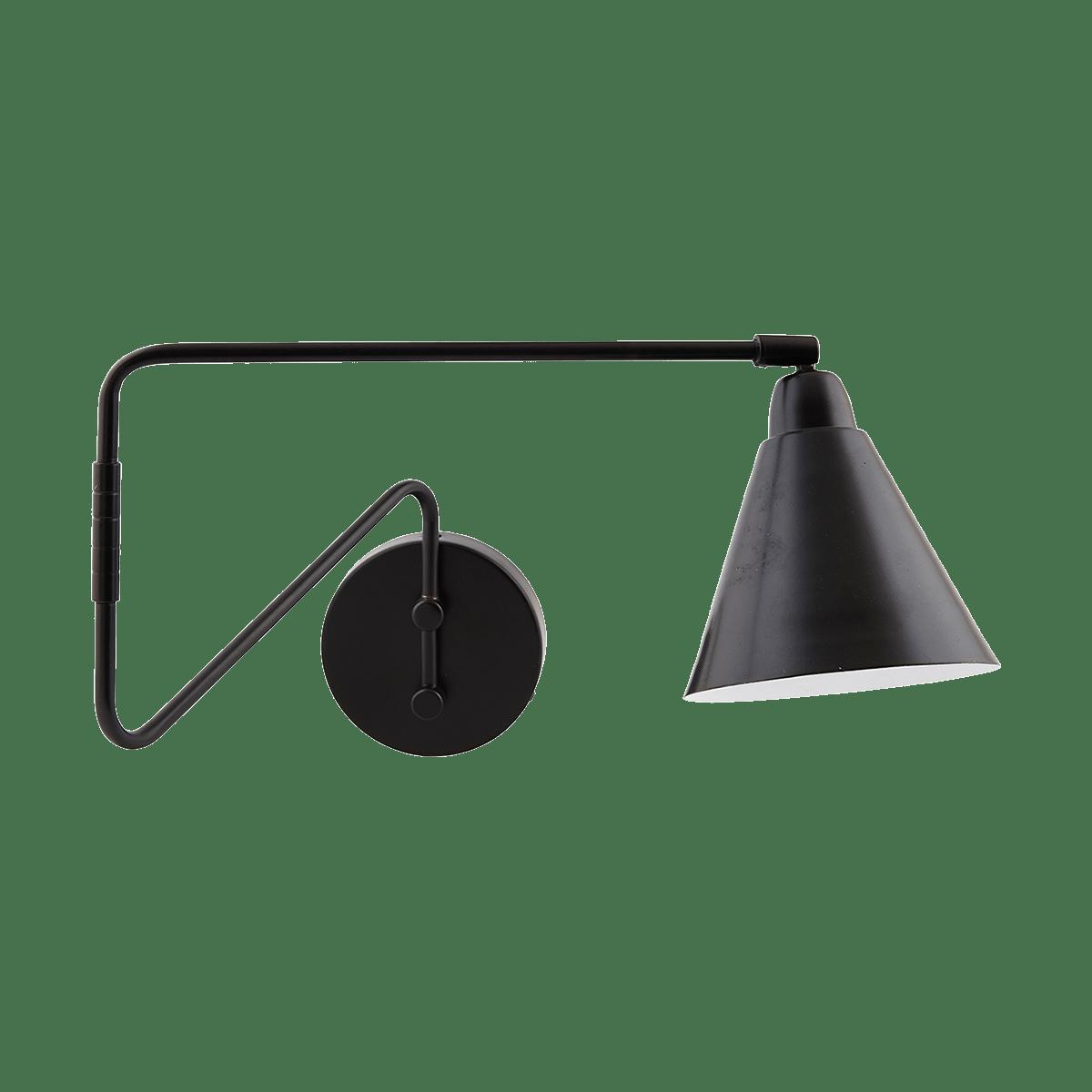 Černá nástěnná lampa Game 70 cm