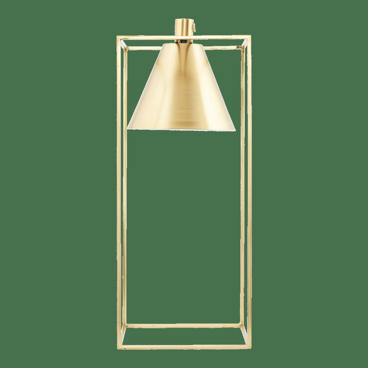 Mosazná stolní lampa Kubix