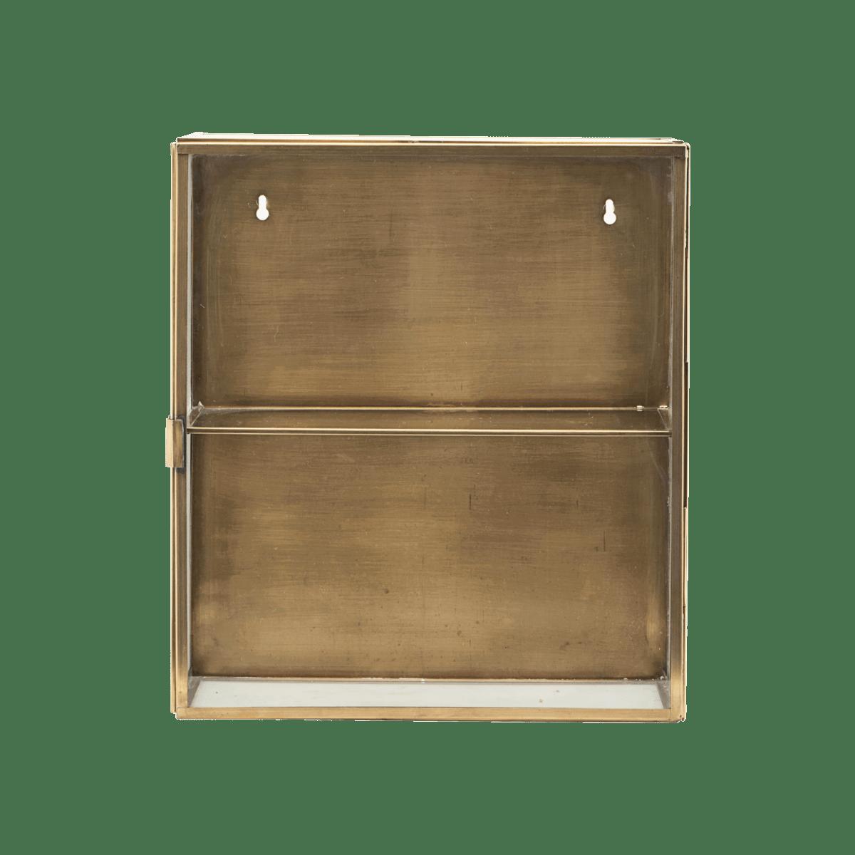 Mosazná nástěnná skříňka Glass 35x15x40 cm