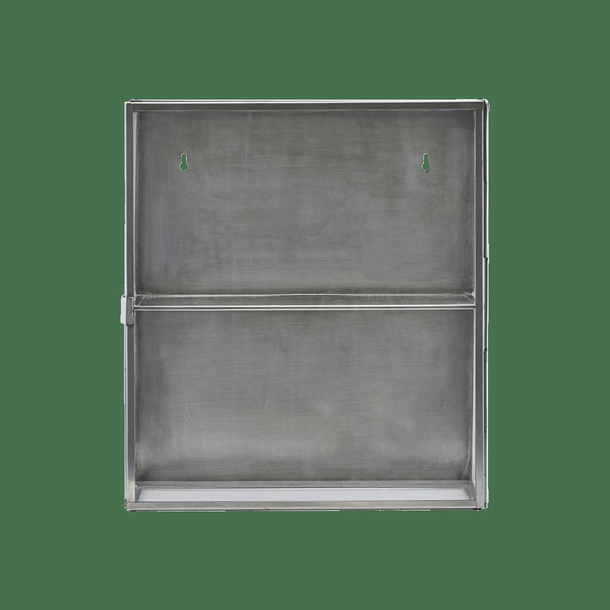 Pozinkovaná nástěnná skříňka Glass 35x15x40 cm