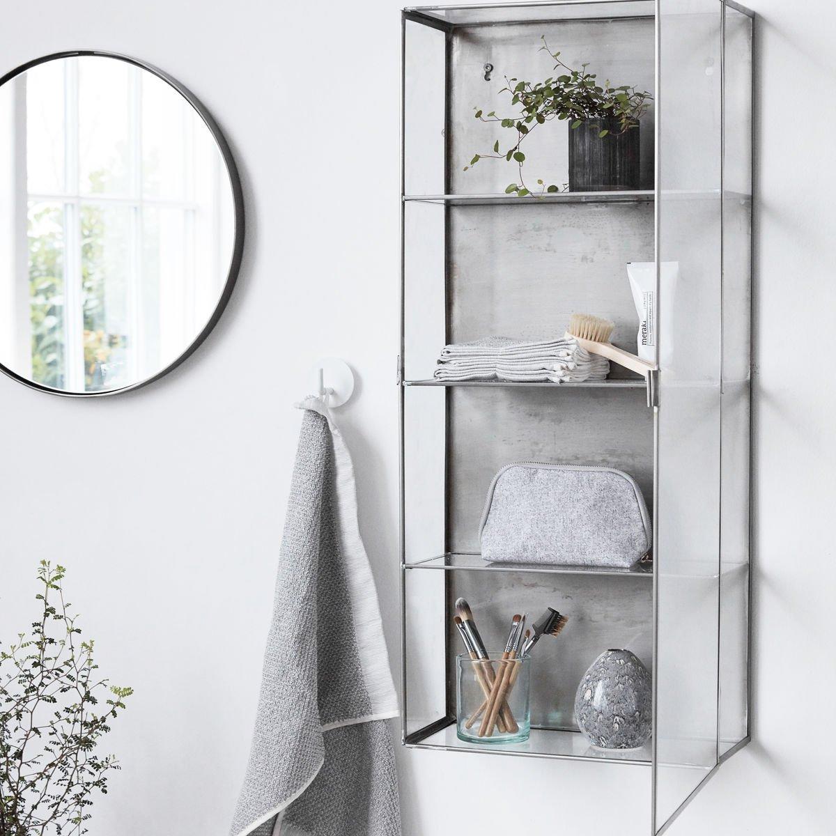 Pozinkovaná nástěnná skříňka Glass 35x15x80 cm