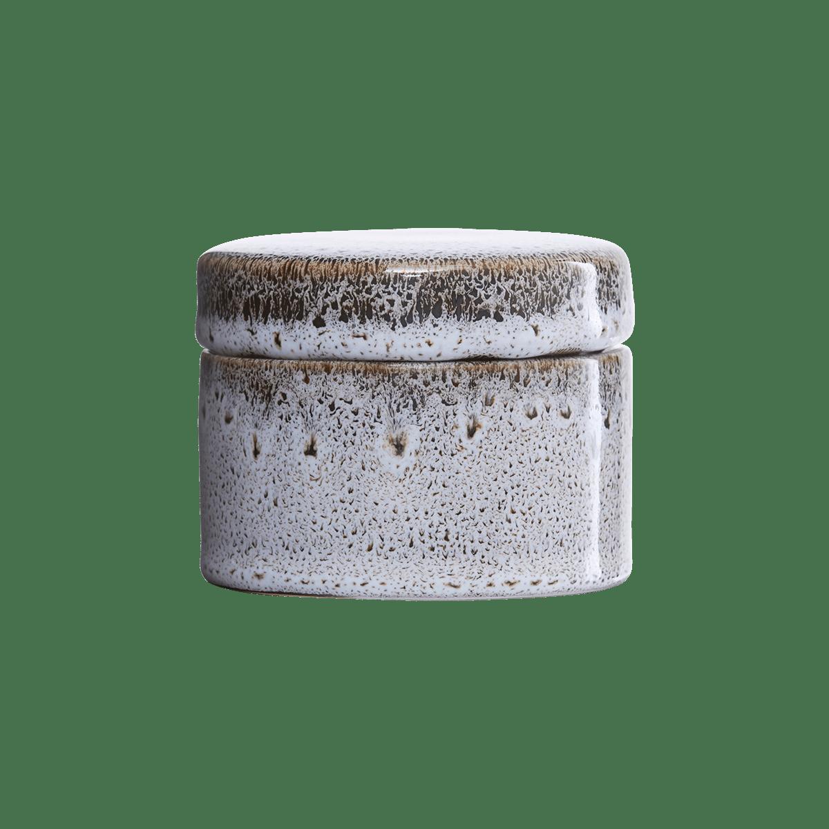 Sada 4 ks − Bíločerná dóza s víkem Croz