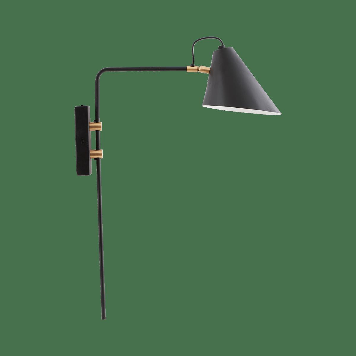 Sada 2 ks − Černá nástěnná lampa Club