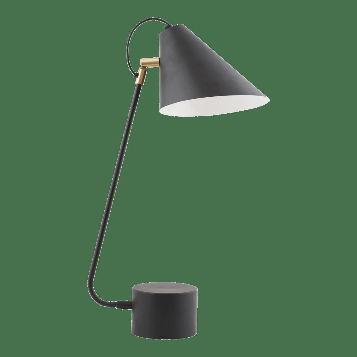 Černá stolní lampa Club