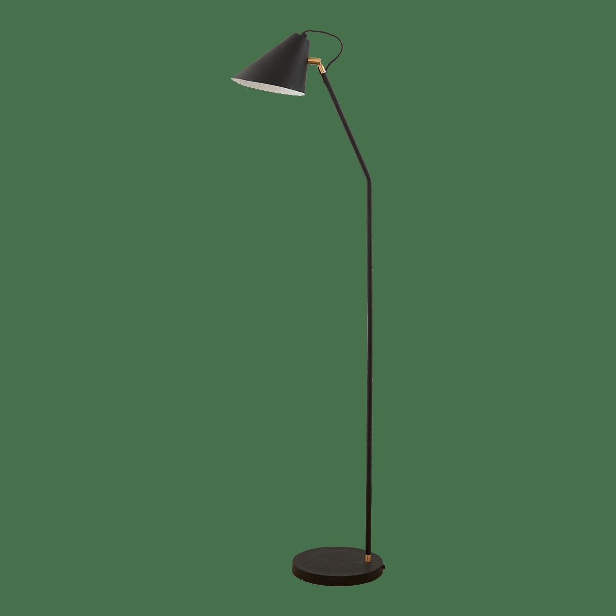 Černá stojanová lampa Club