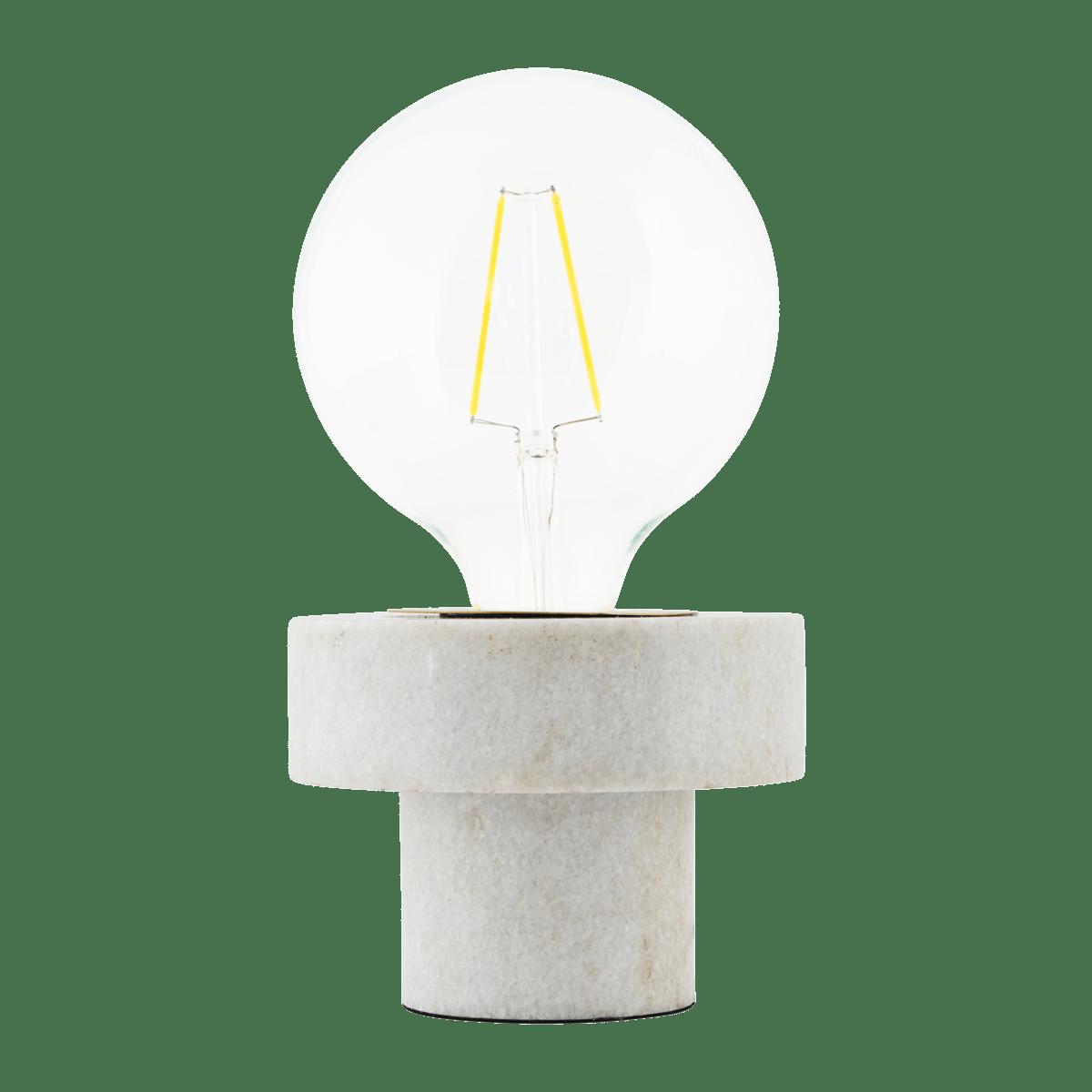 Bílá mramorová stolní lampa Pin