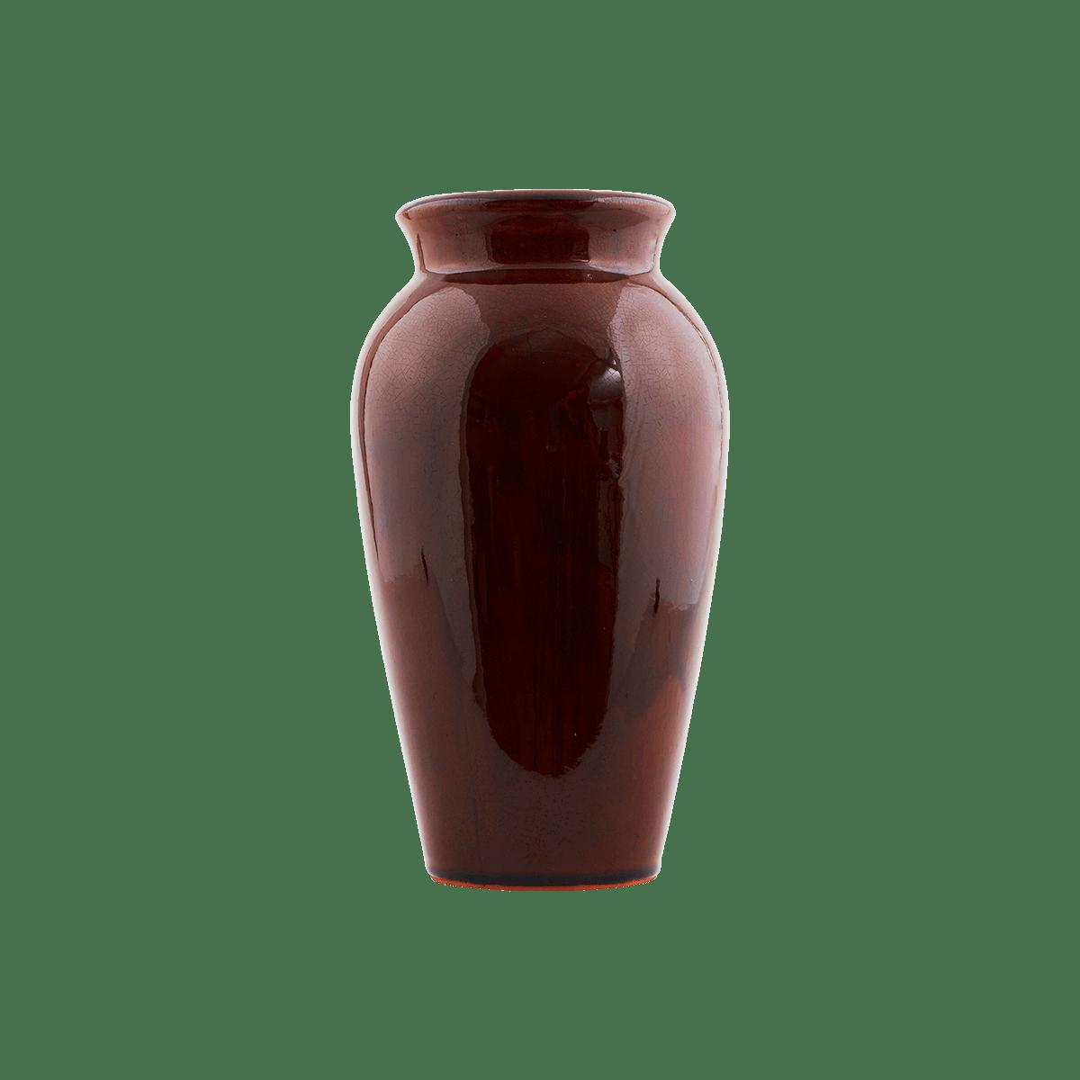 Hnědá váza Antique malá