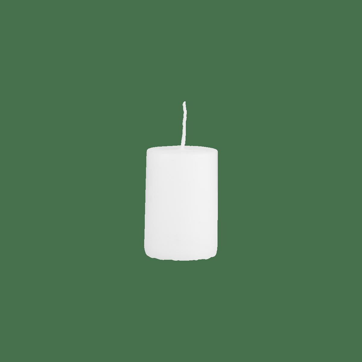 Bílá svíčka 4x6 cm - set 6 kusů