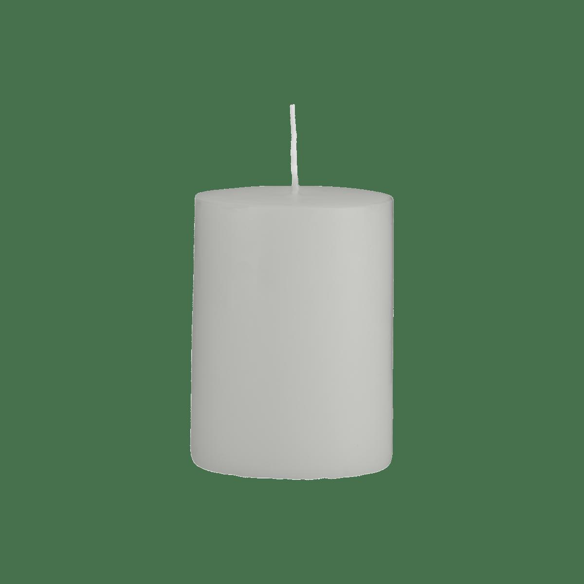 Šedá svíčka 7x10 cm - set 2 kusů