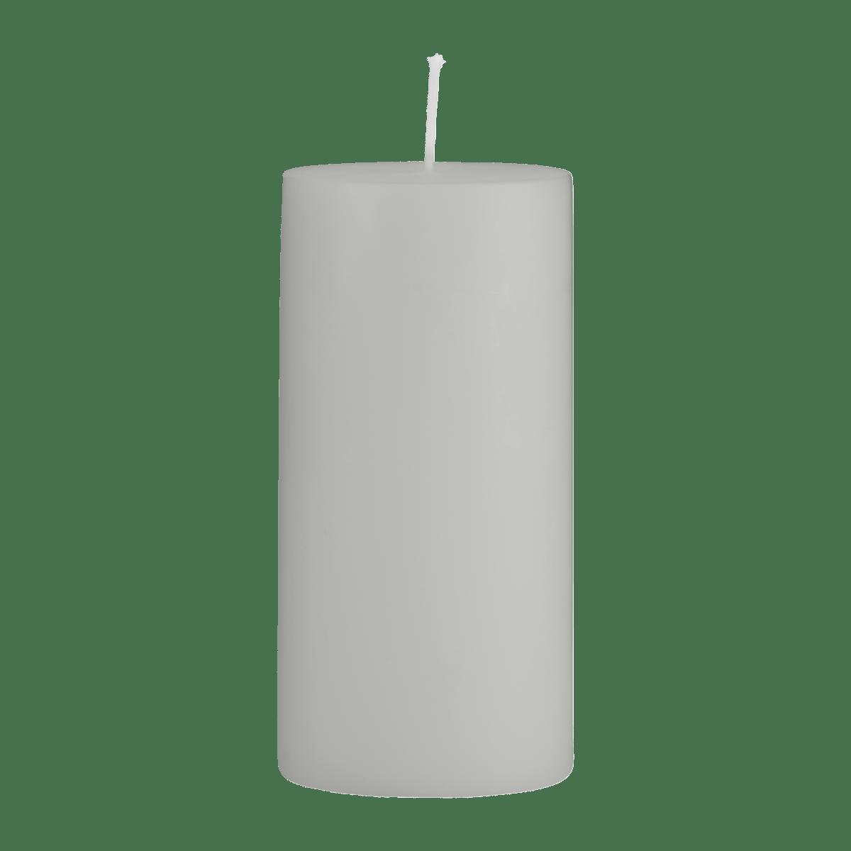 Šedá svíčka 7x15 cm - set 2 kusů