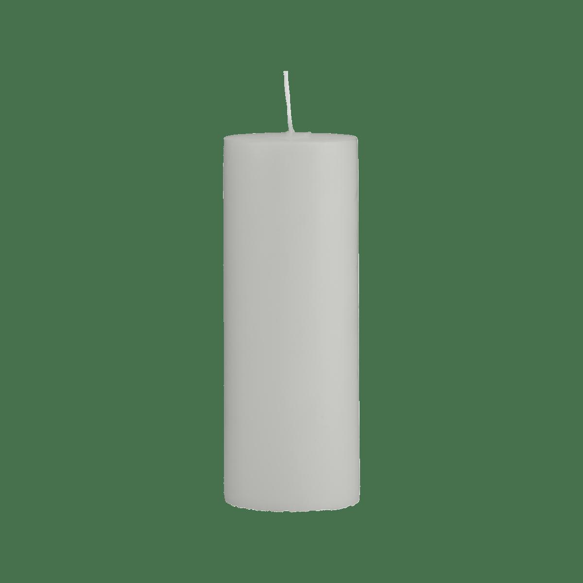 Šedá svíčka 7x20 cm - set 2 kusů
