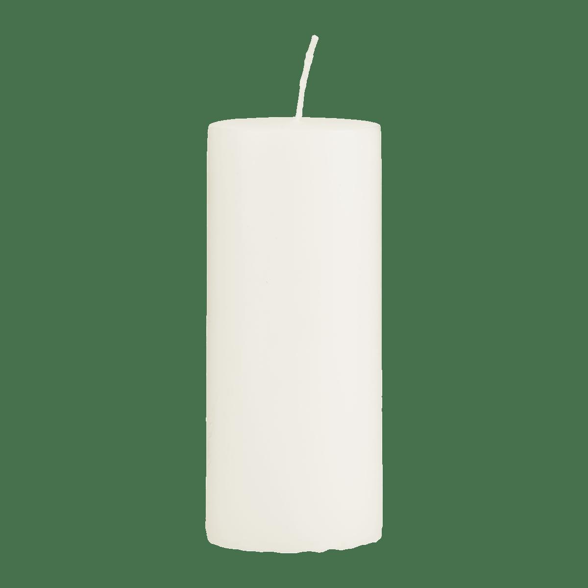 Světle šedá svíčka 6x15 cm - set 2 kusů