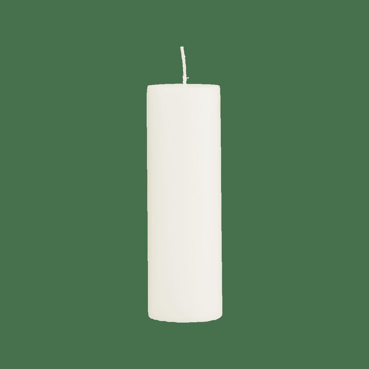 Světle šedá svíčka 6x20 cm - set 2 kusů
