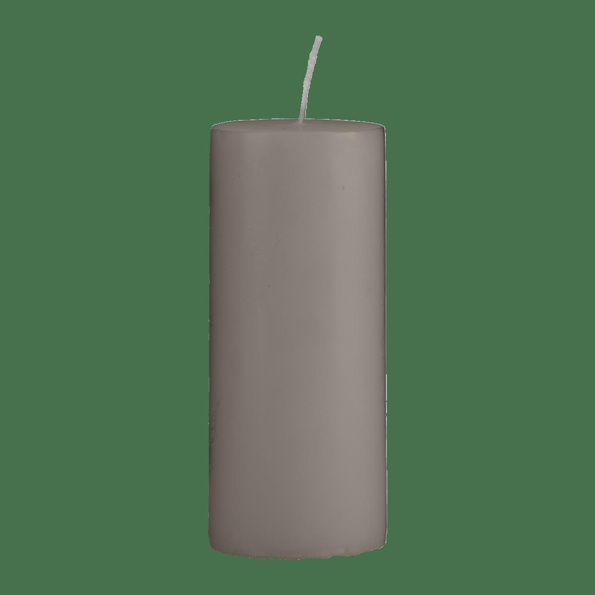 Šedohnědá svíčka 6x15 cm - set 2 kusů