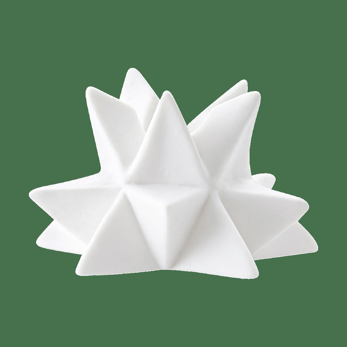 Bílý stojan na svíčku STAR malý