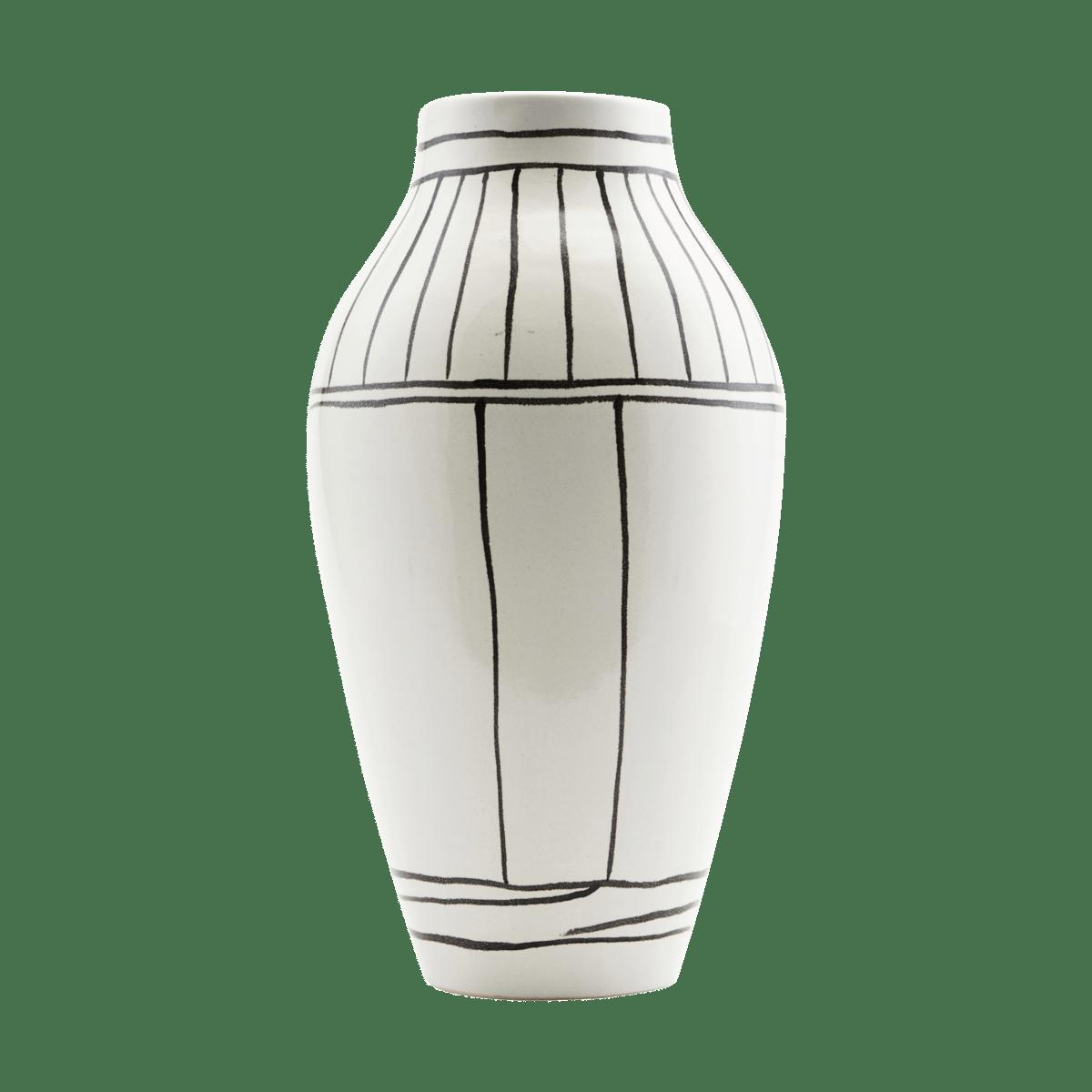 Bílá váza Outline