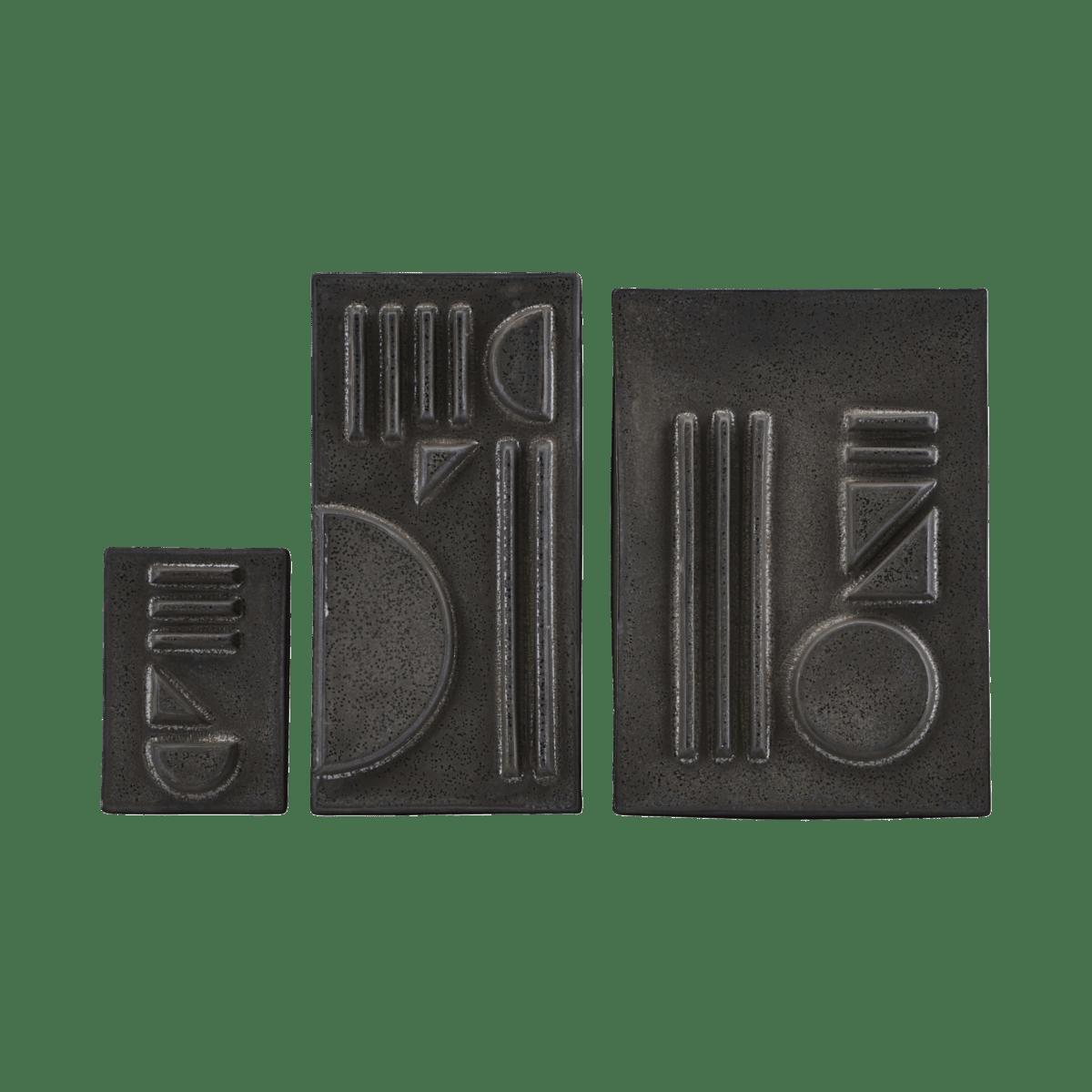 Černé reliéfy Geometric 01