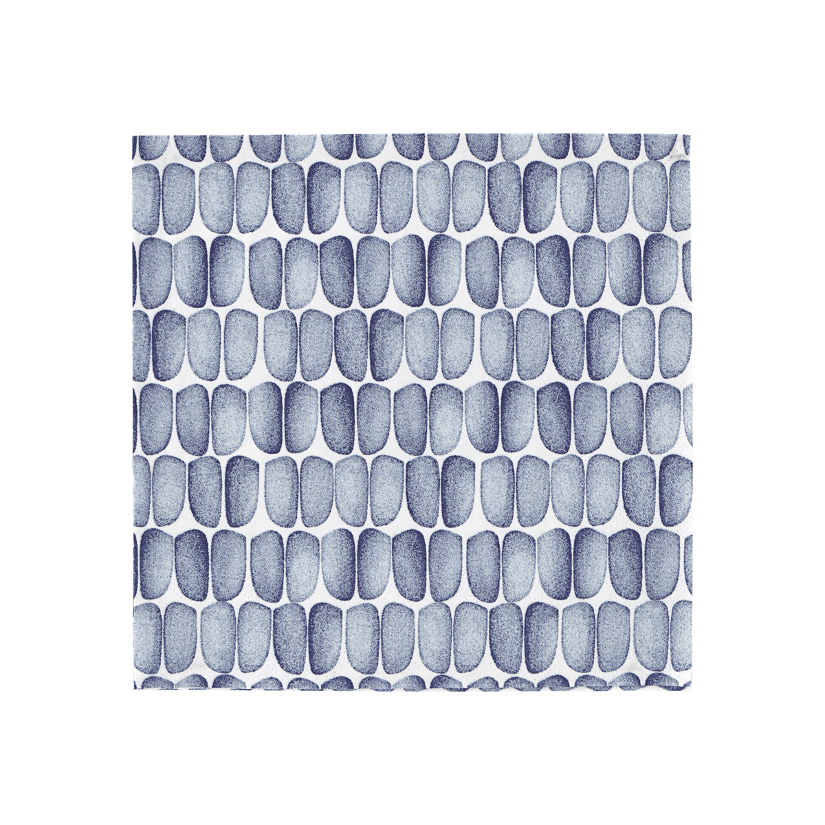 Modrobílý ubrousek Braid malý - set 20 kusů