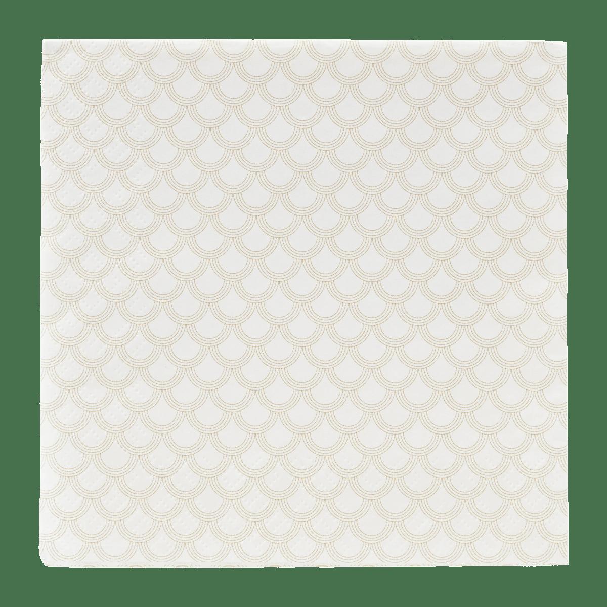 Bílozlatý ubrousek Golden arches velký