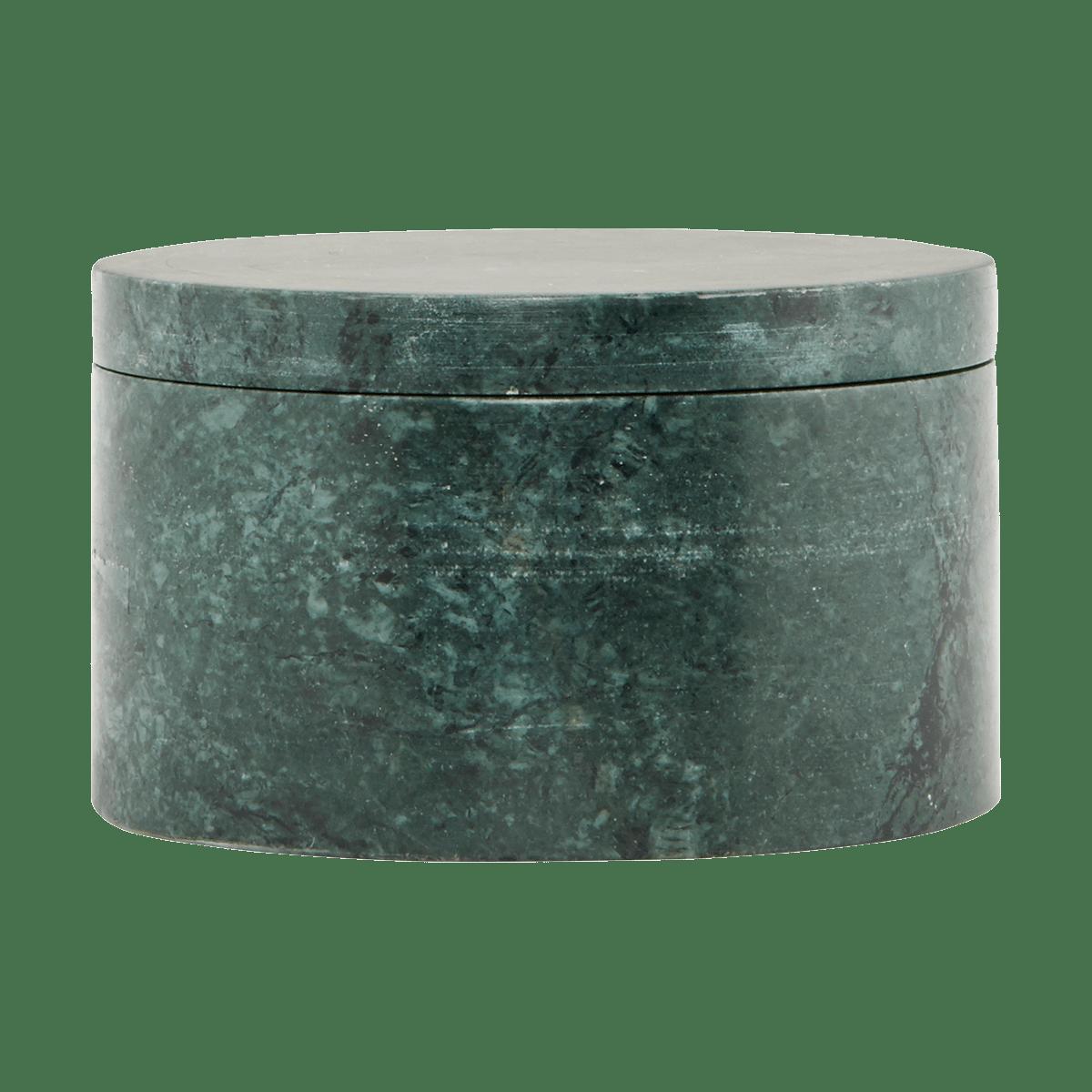Zelená mramorová úložná krabička Marble