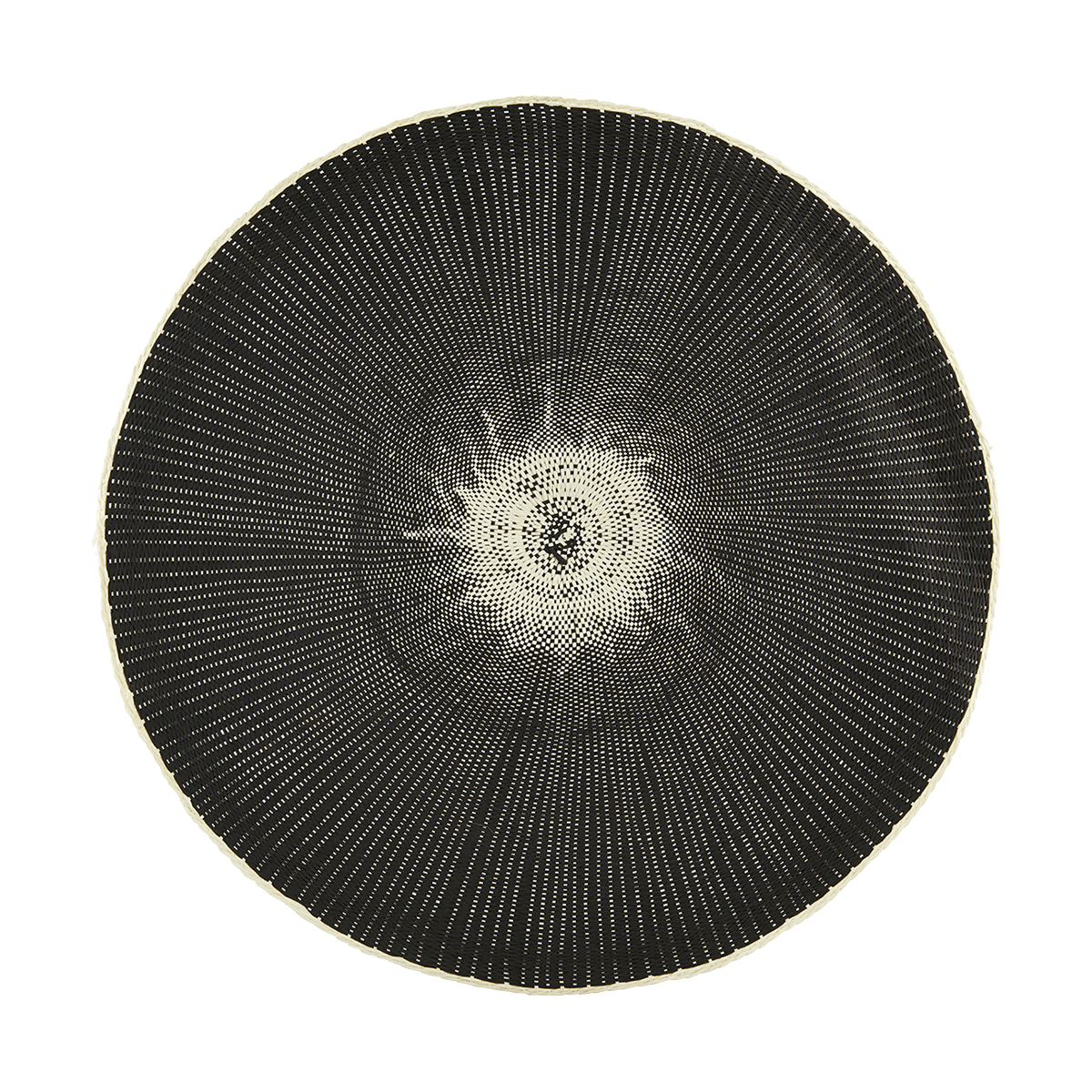 Černé prostírání Circle - set 2 kusů