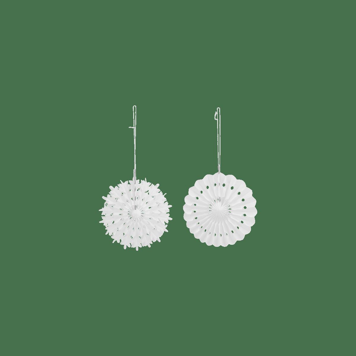 Bílé dekorační vločky malé