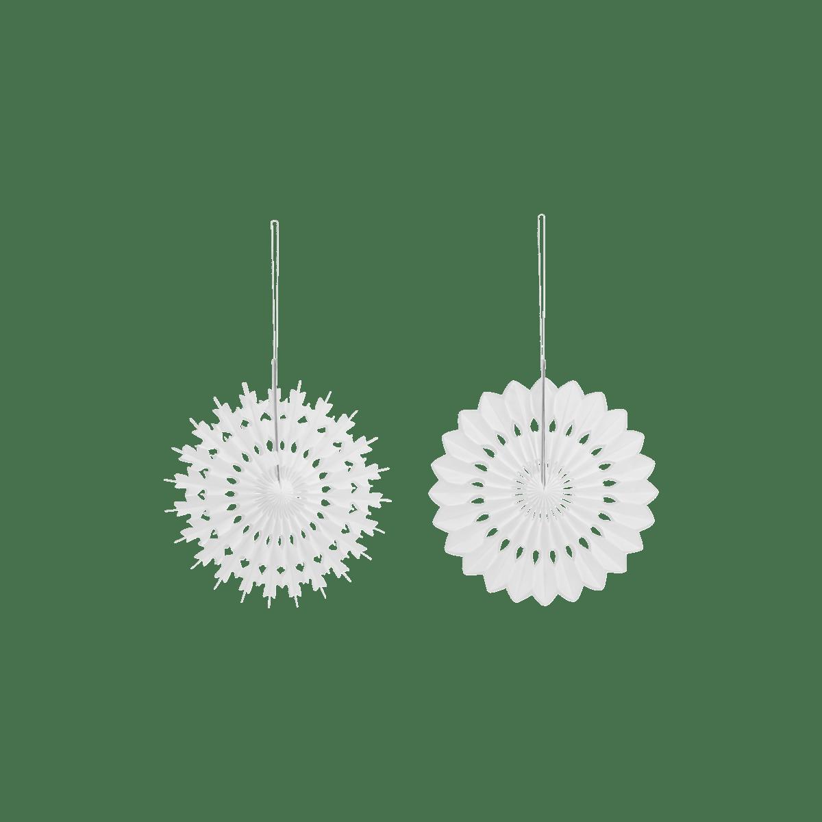 Bílé dekorační vločky střední