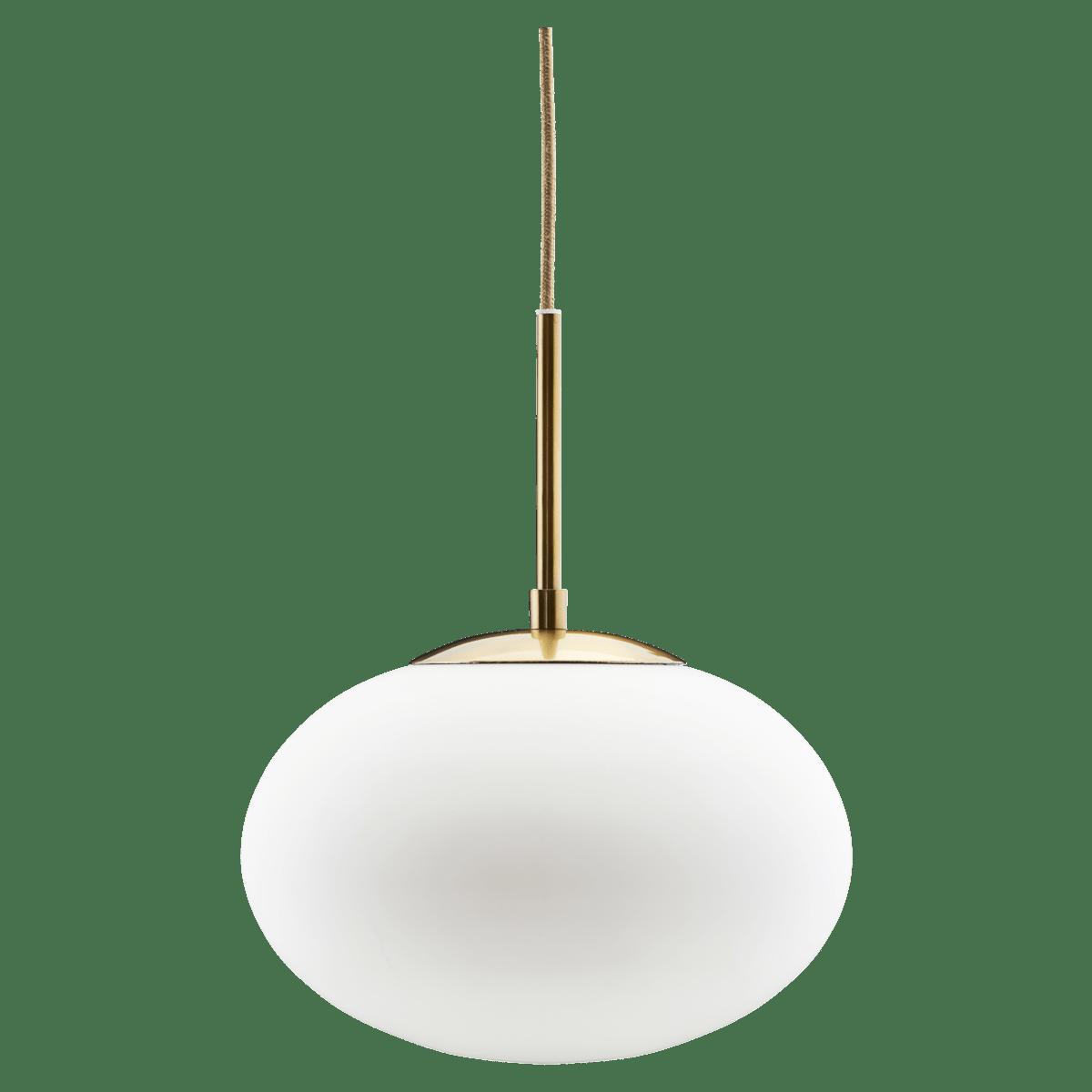 Bílozlatá závěsná lampa Opal