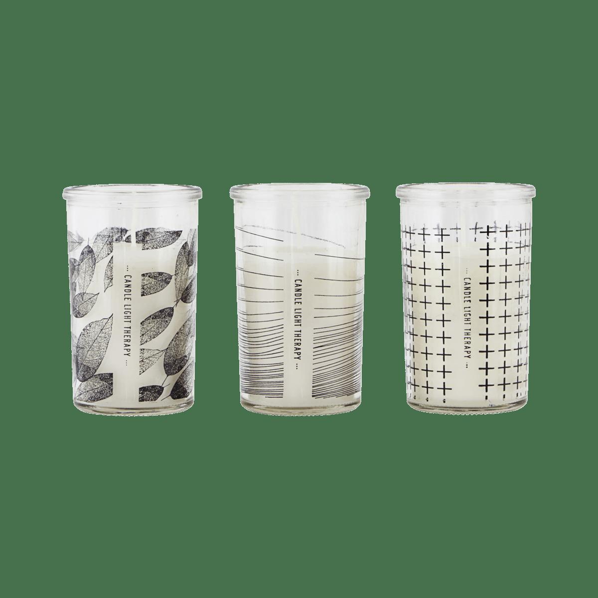 Set 6 svíček Graphic - set 3 druhů