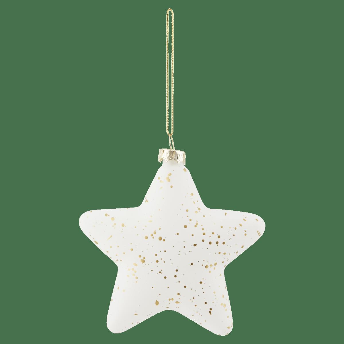Bílozlatá dekorační hvězda Gold Sprinkle