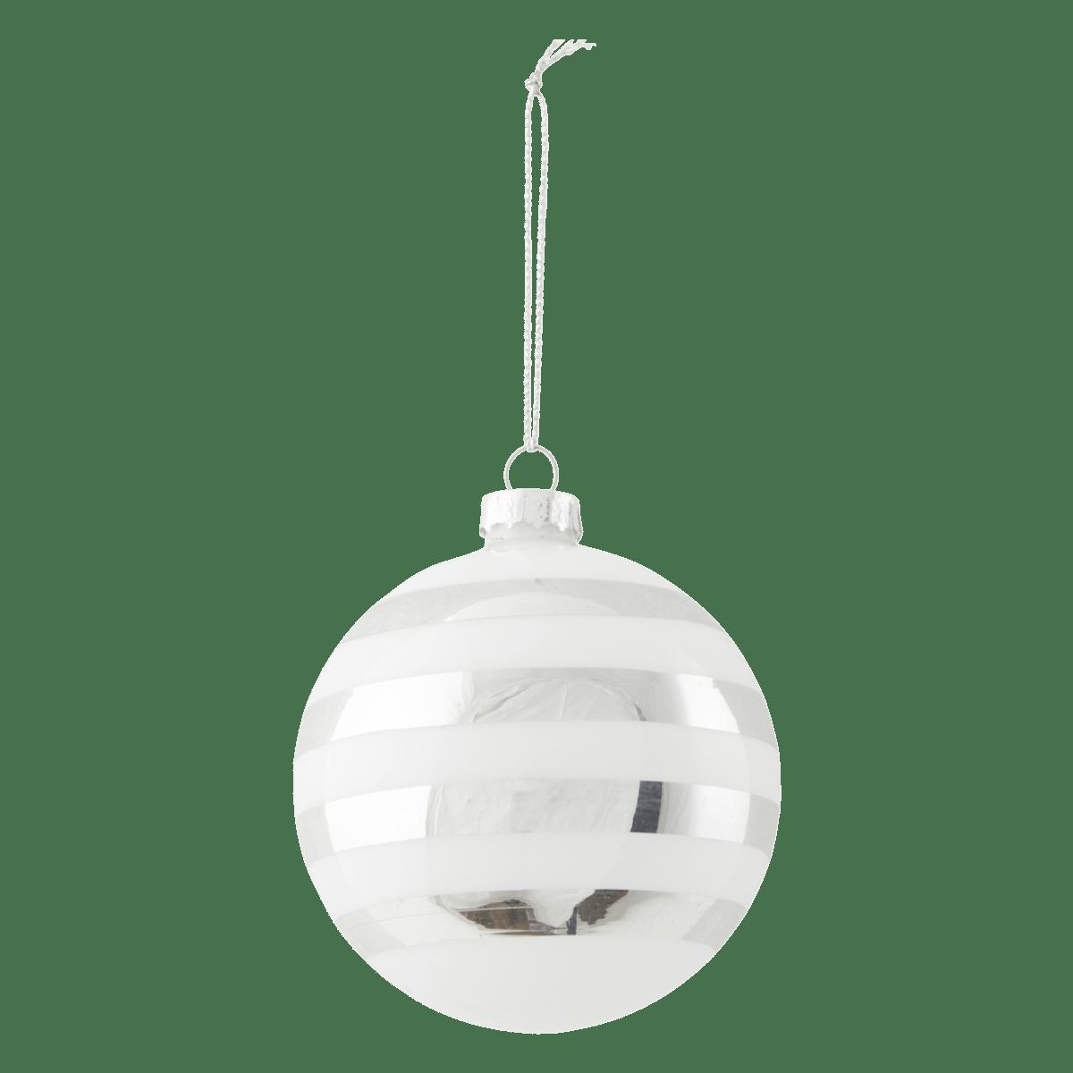 Stříbrná dekorační baňka Stribe