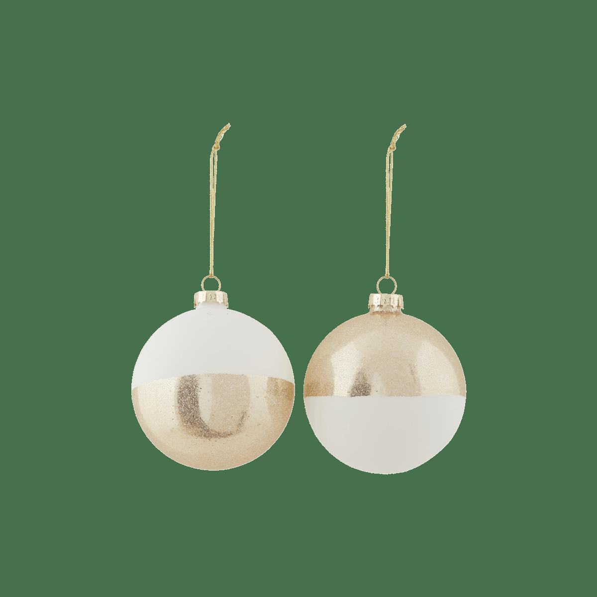 Bílozlaté dekorační baňka Upp 2 druhy
