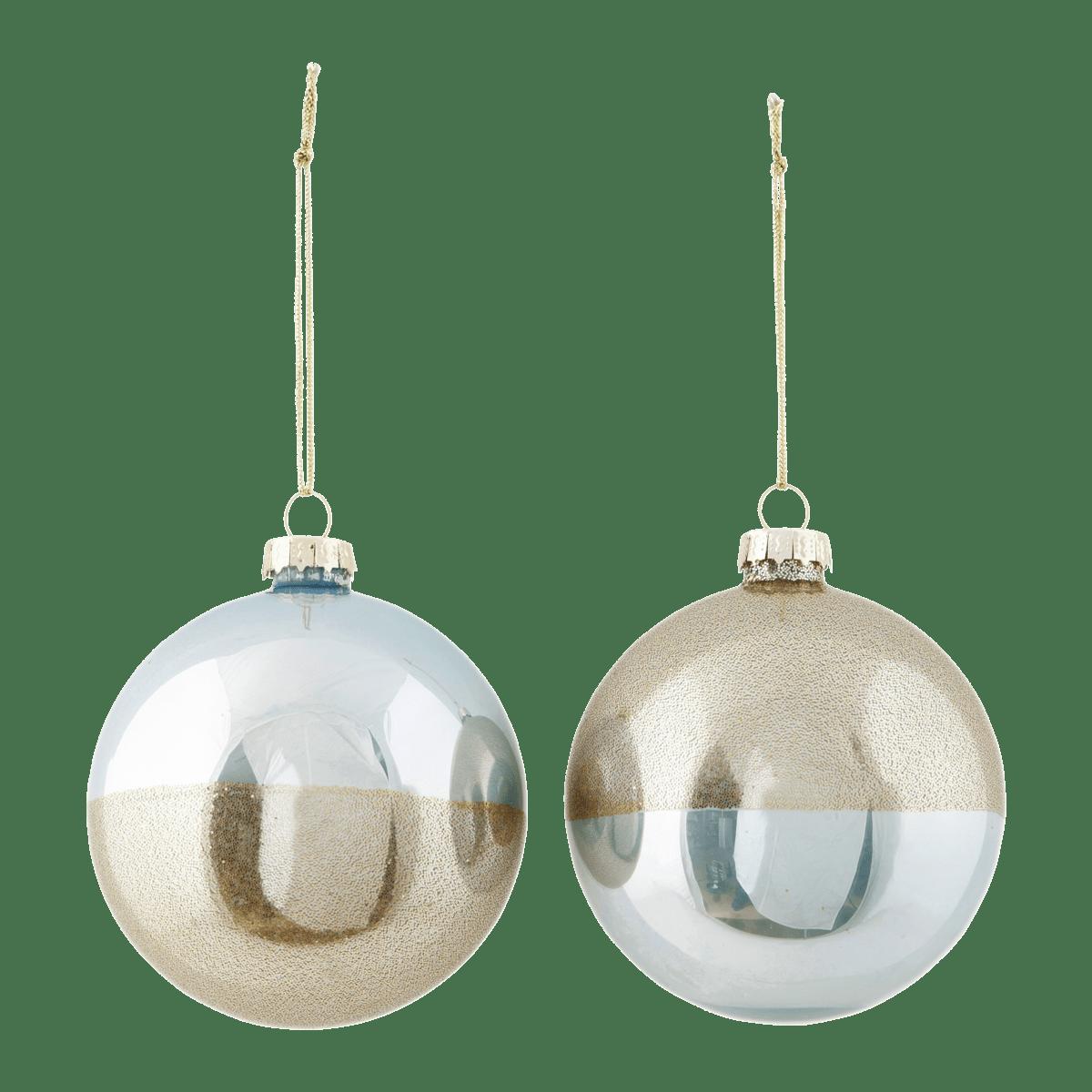 Modrozlaté dekorační baňka Upp 2 druhy
