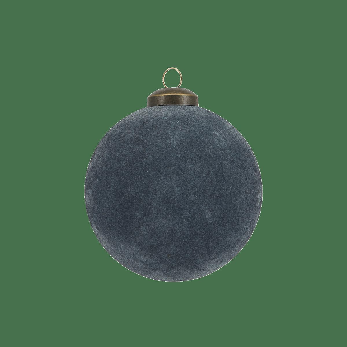 Tmavě modrá dekorační baňka Flock velká