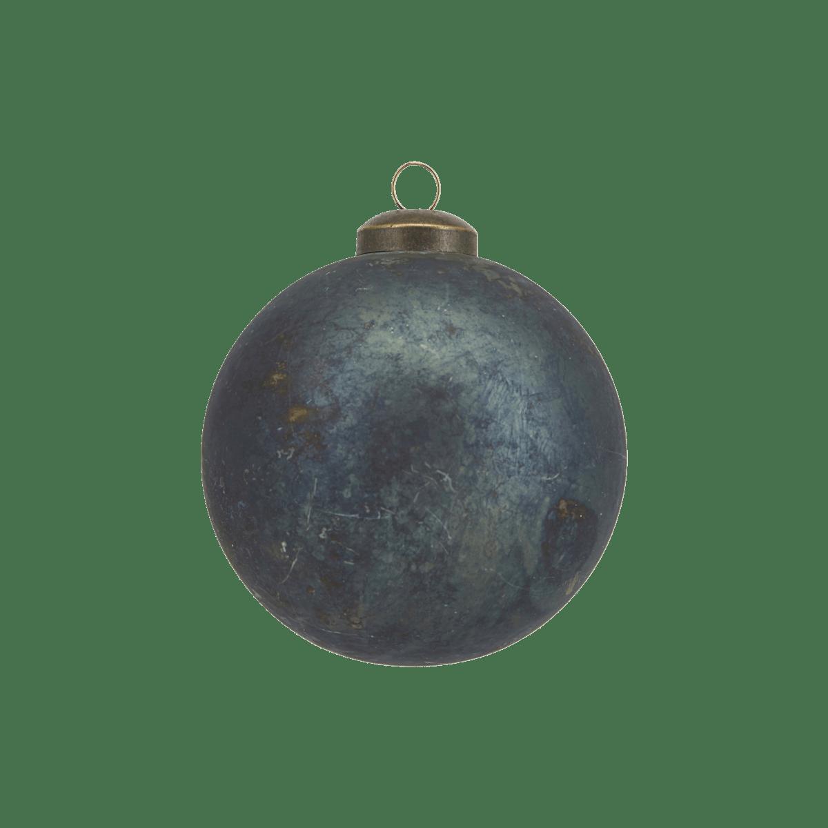 Modrá dekorační baňka Nuance