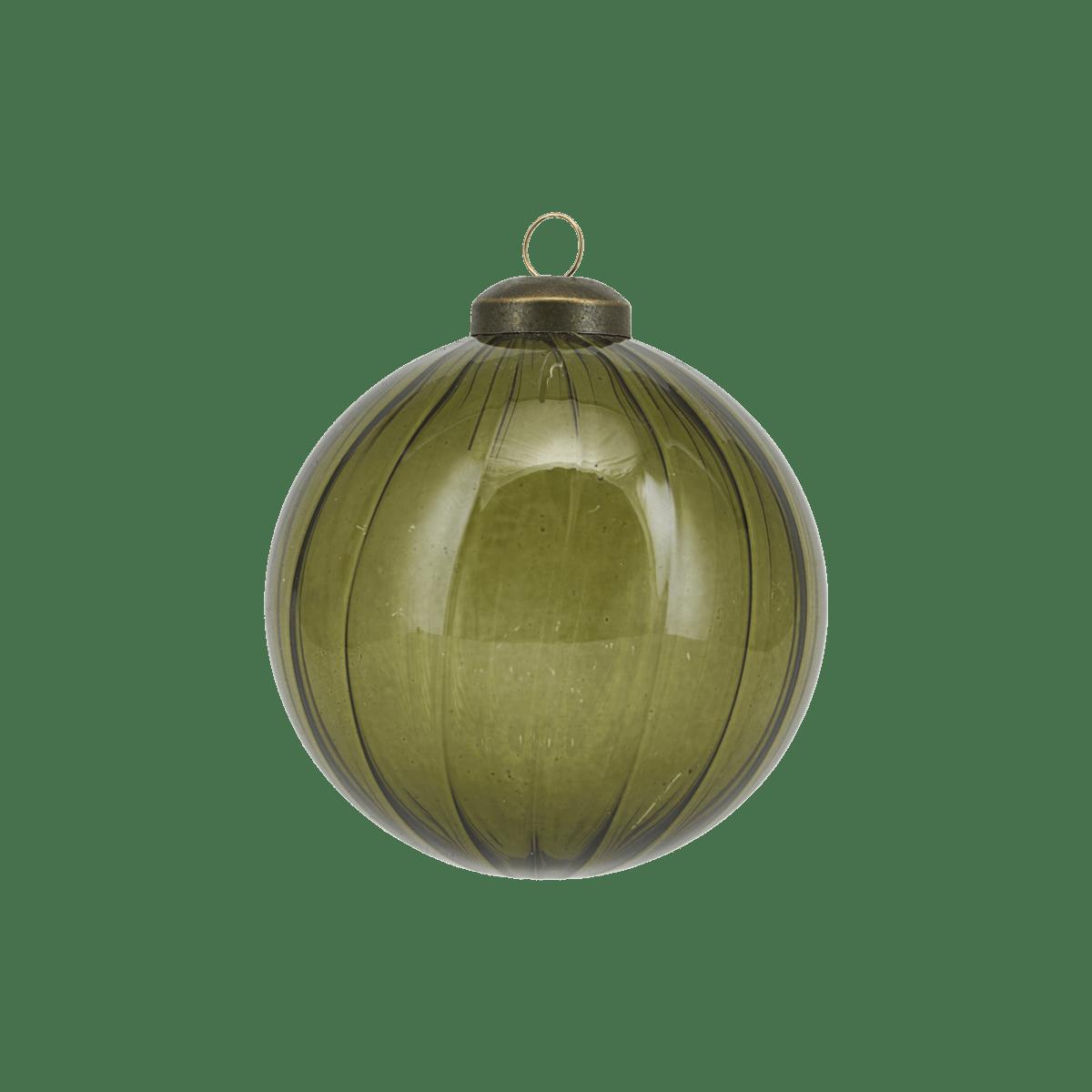 Zelená dekorační baňka Cleary malá
