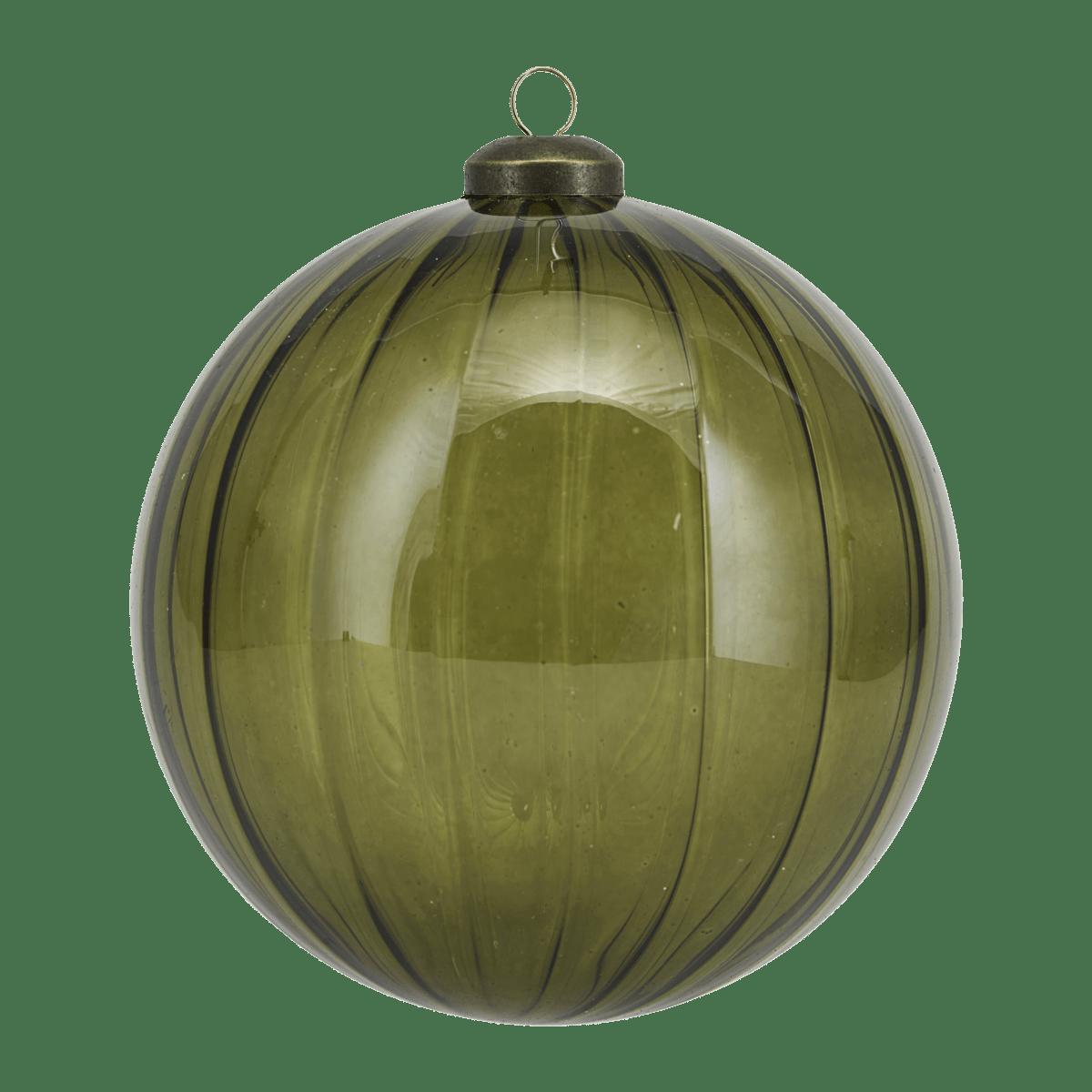 Zelená dekorační baňka Cleary velká