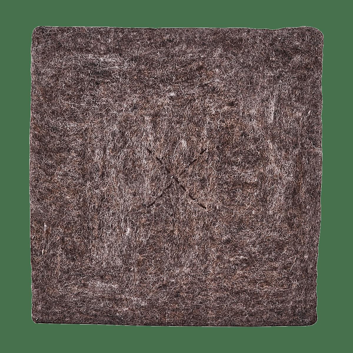 Světle hnědý čtvrecový podsedák Felt Square