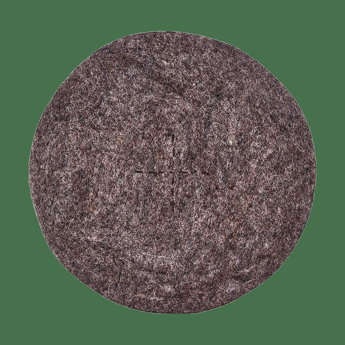 Světle hnědý kruhový podsedák Felt Square