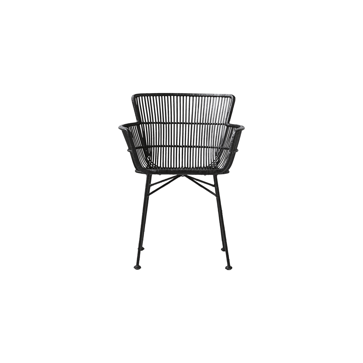 Černá židle s opěrky Coon