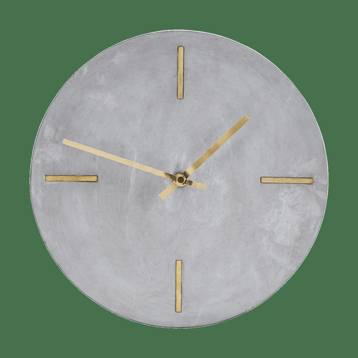 Šedé nástěnné hodiny Concrete