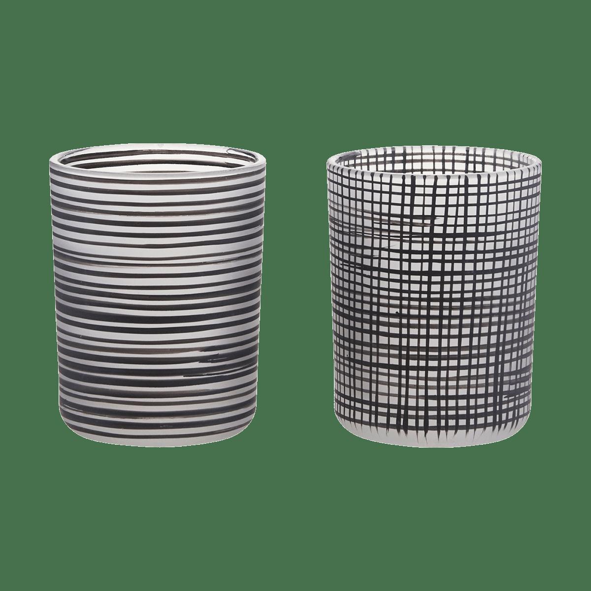 Černobílý stojan na čajové svíčky Style
