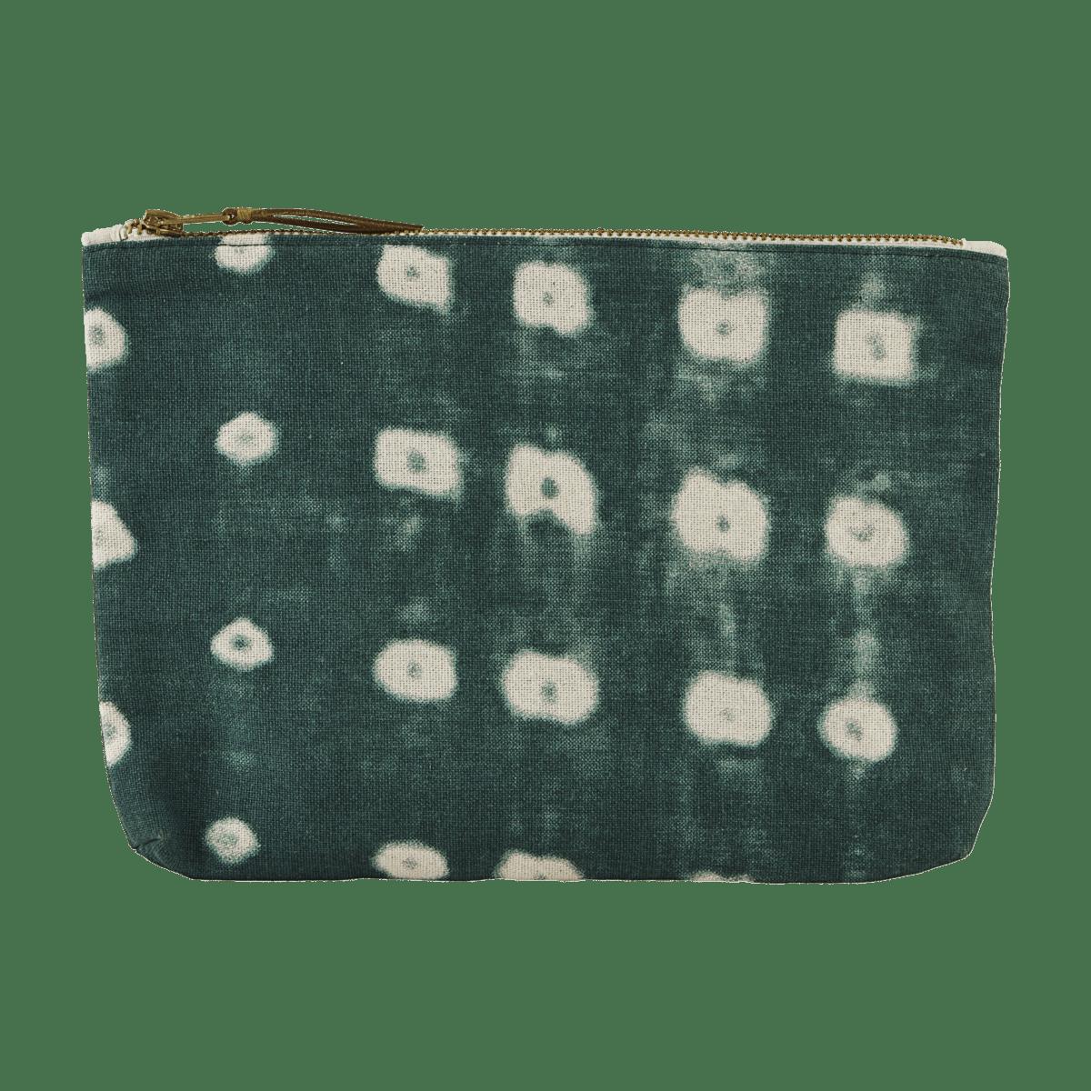 Zelená kosmetická taštička Batik