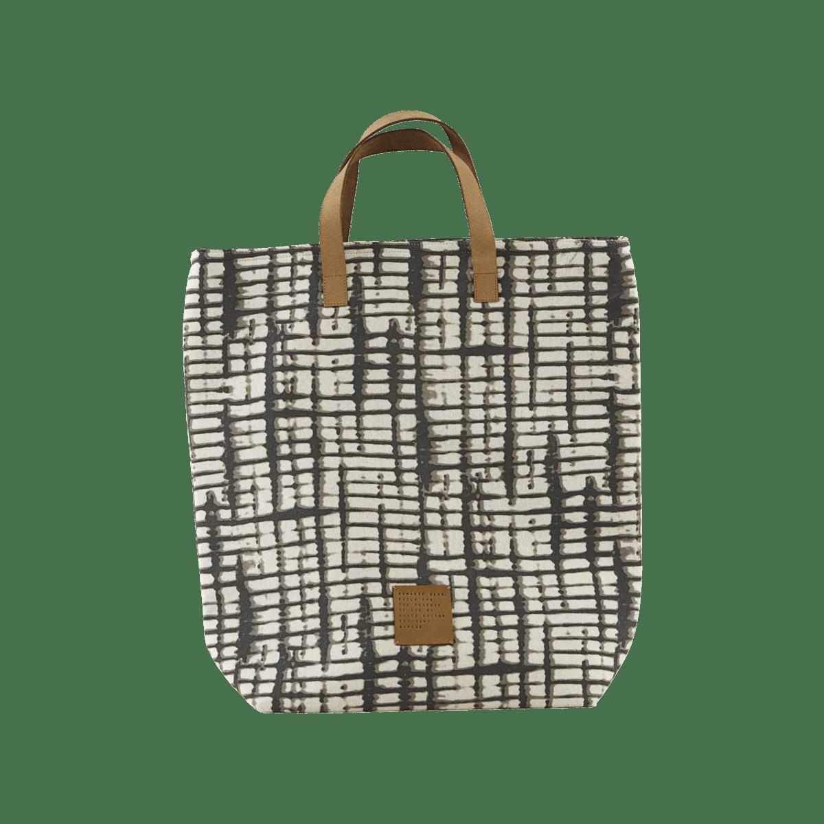 Šedobílá nákupní taška Batik