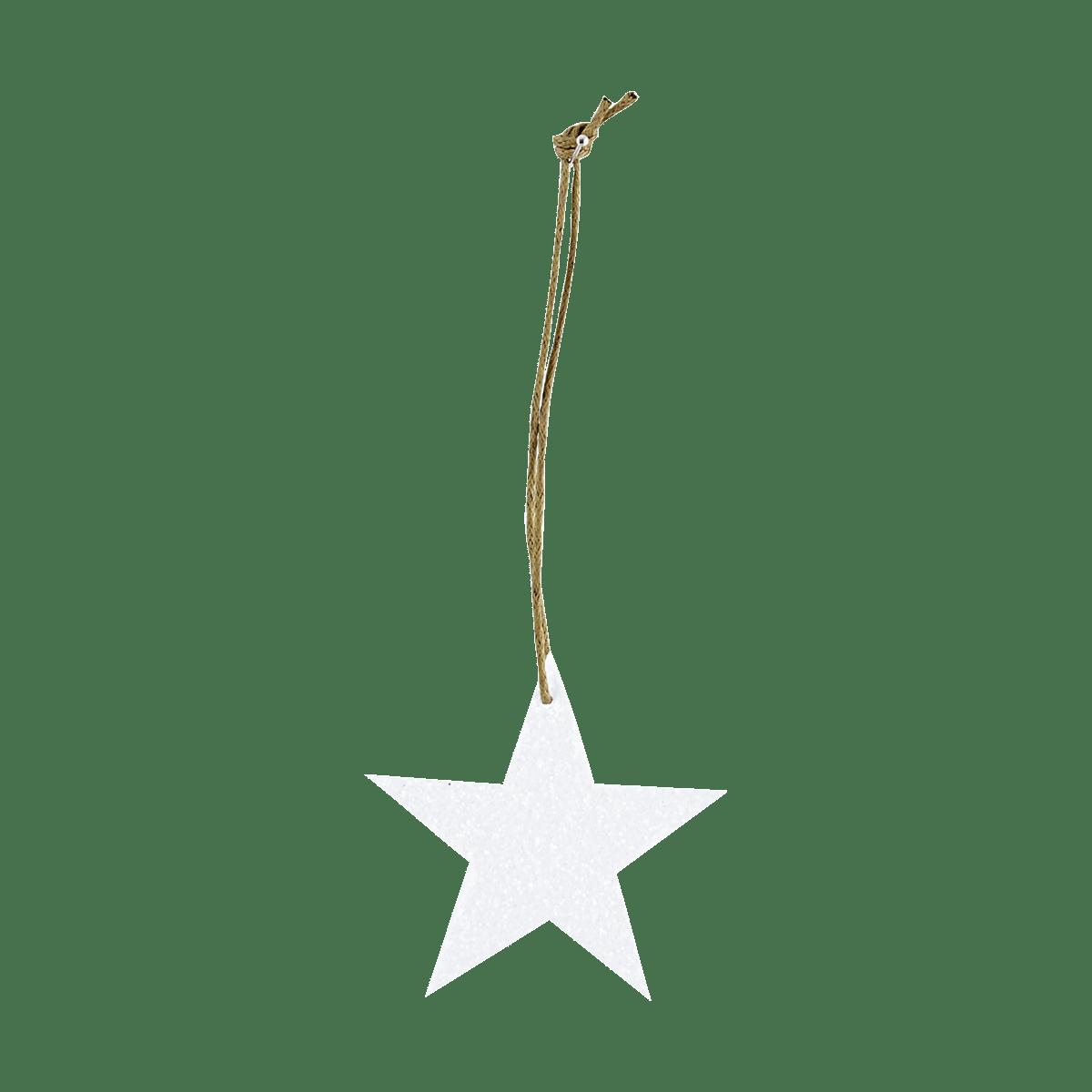 Bílá ozdobná hvězda Glitter malá