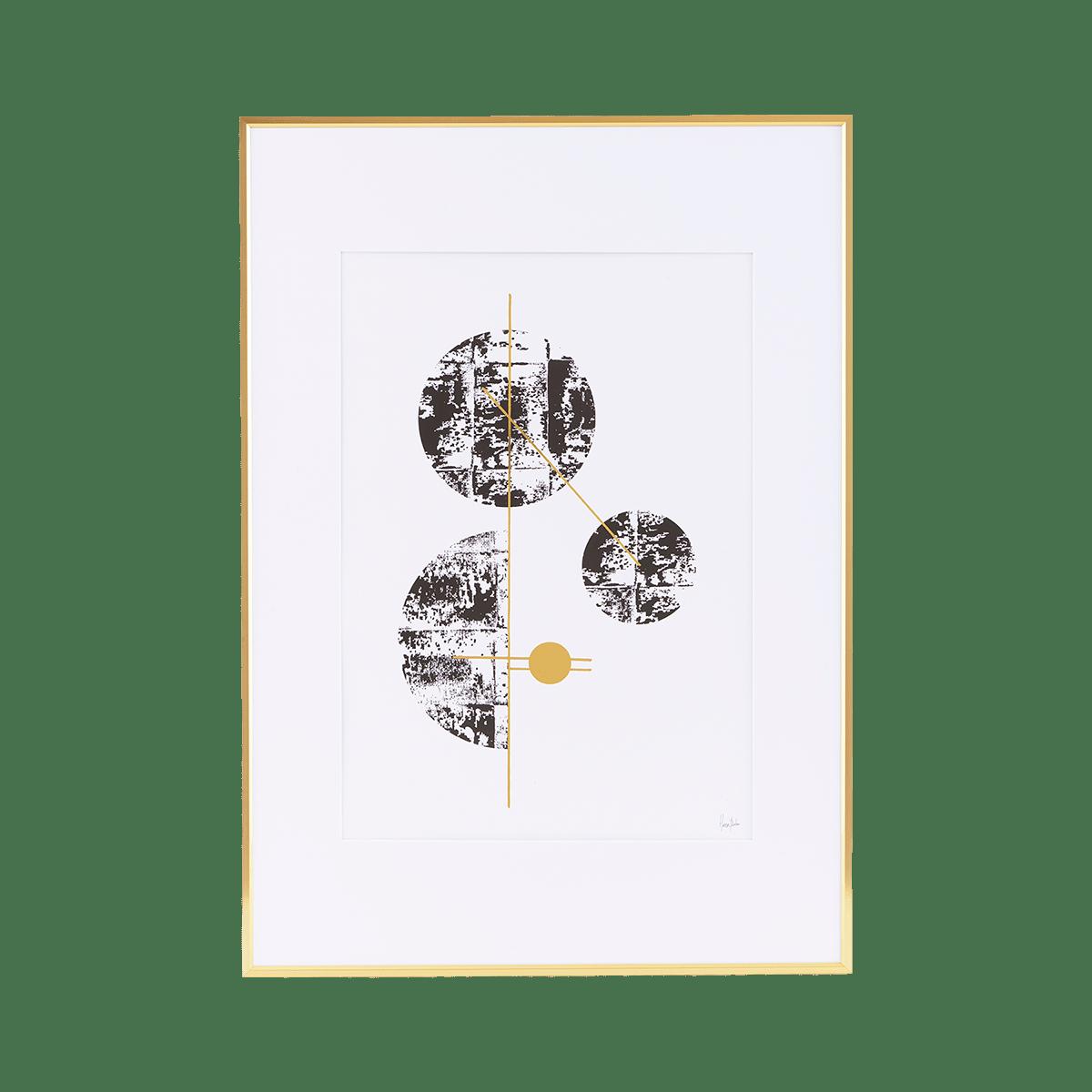 Ilustrace ve zlatém rámu Ny malý